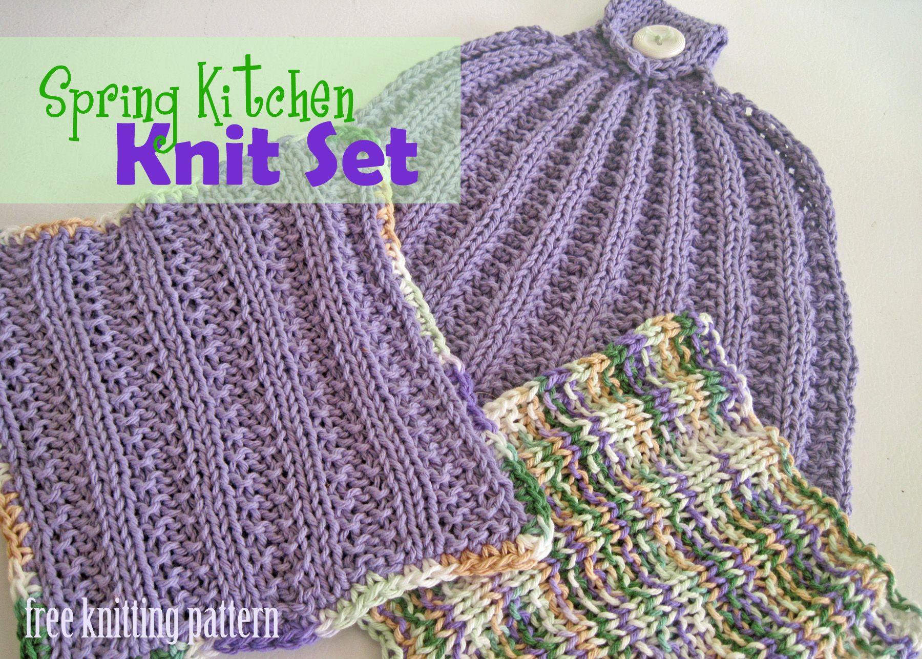 Free Knitting Pattern - Spring Kitchen Set - Page 3 | knitting ...