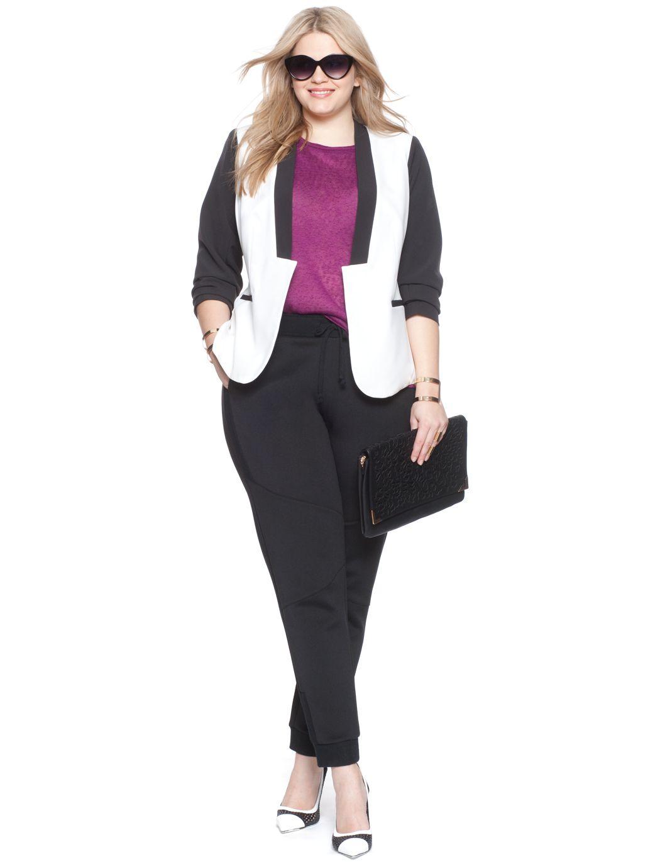 Studio Colorblock Bomber Jacket   Women's Plus Size Jackets   ELOQUII