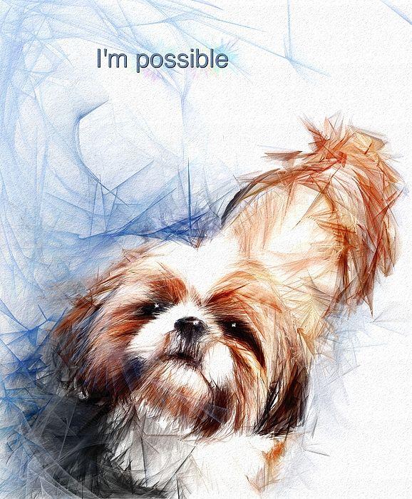 Impossible By Richard Okun Puppy Cartoon Cartoon Animals Dog Paintings