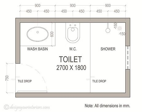 Bathroom Layout On Plan