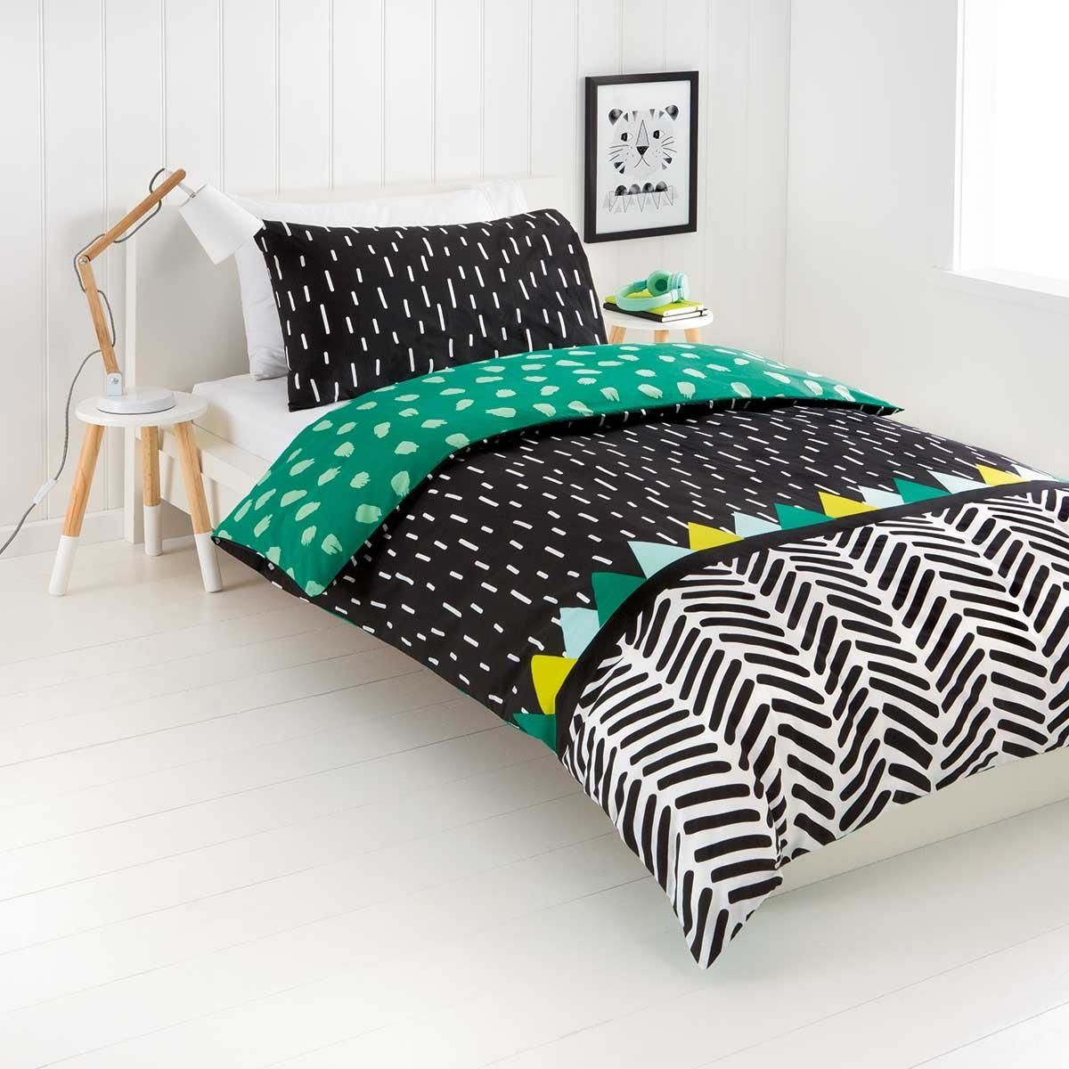 reversible wild thing quilt cover set double bed kmart kids