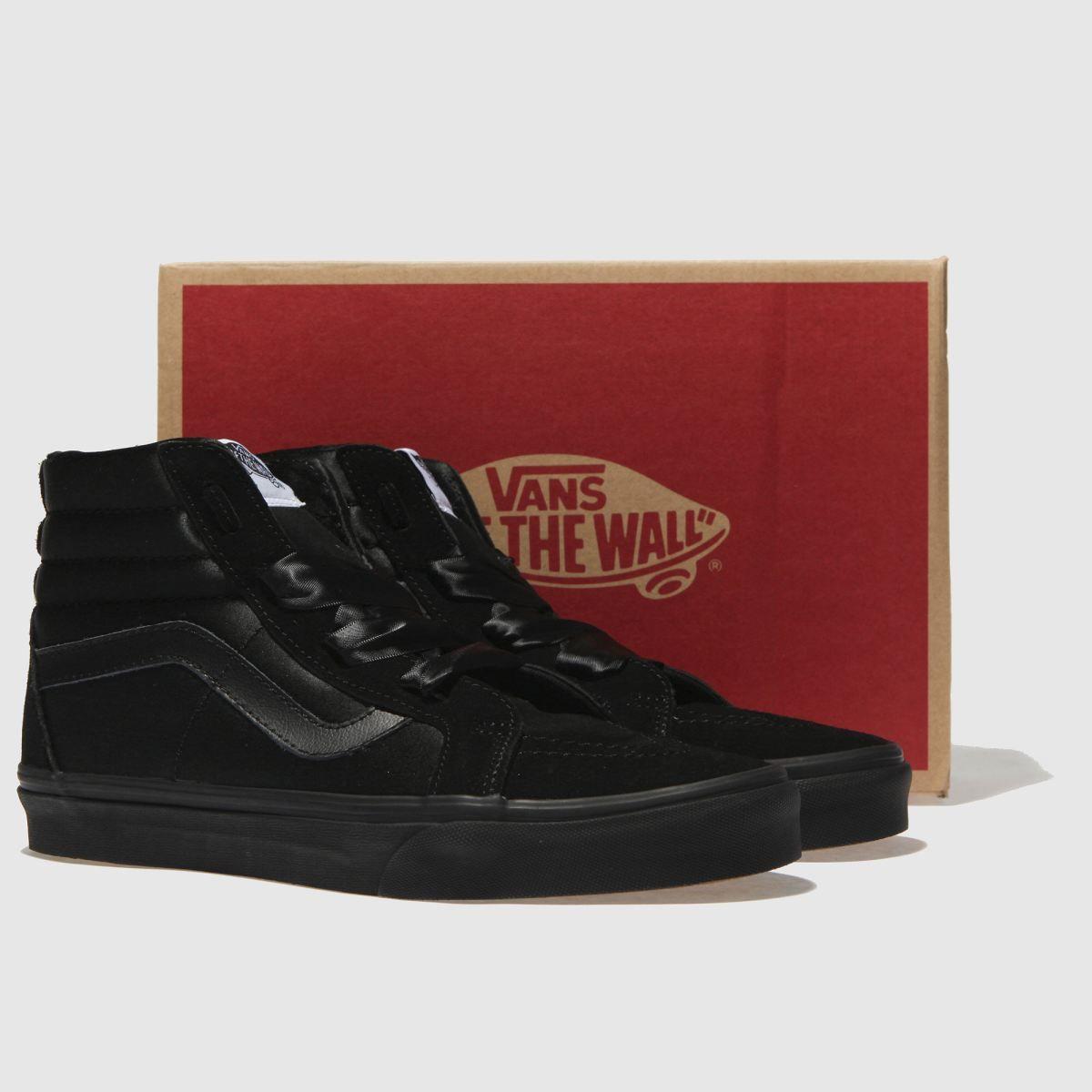 vans black sk8-hi alt lace ballerina trainers  8ebab2141