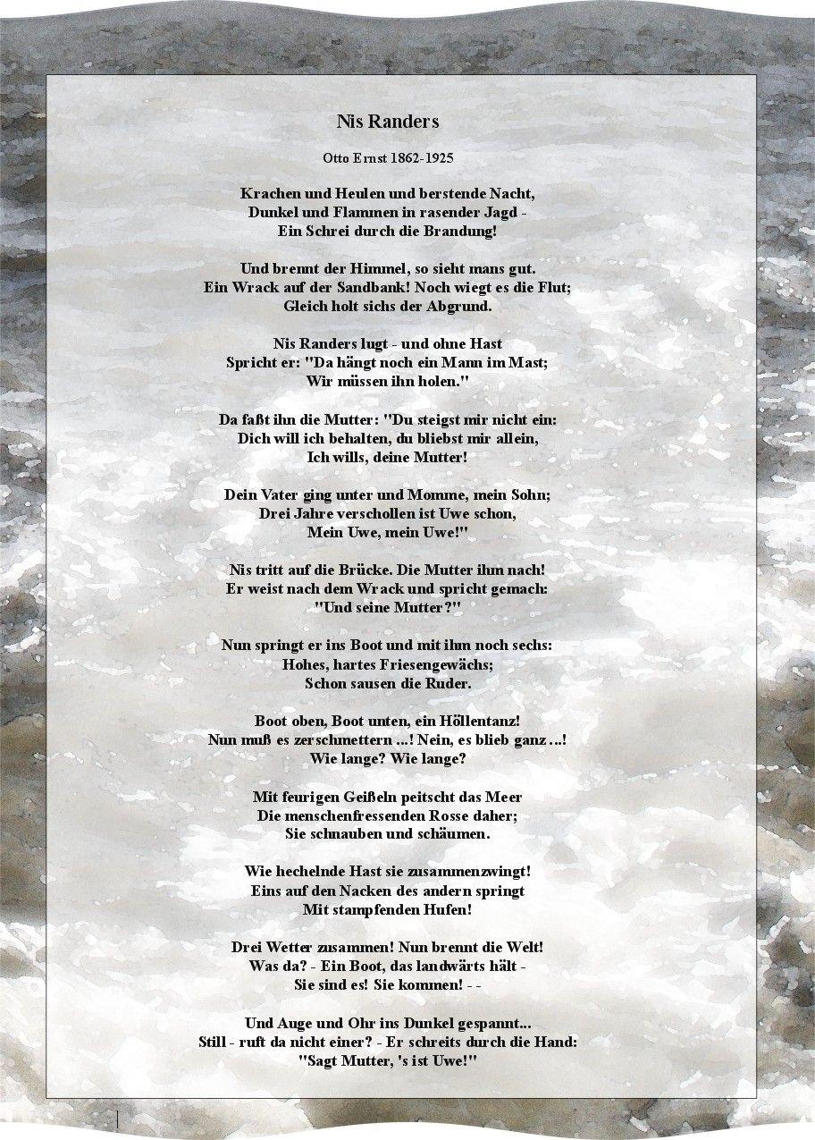 Das gedicht nis randers