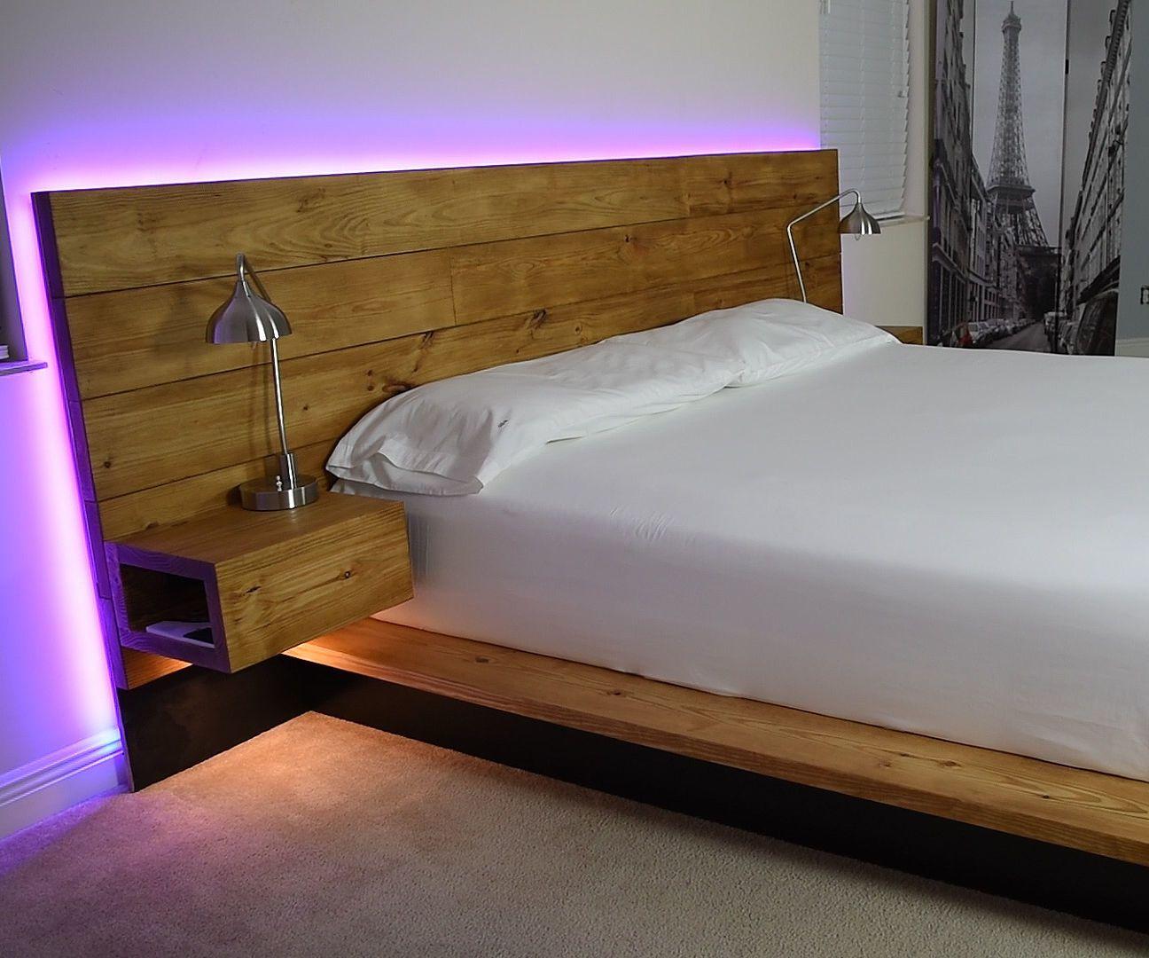 DIY Platform Bed With Floating Night Stands Platform