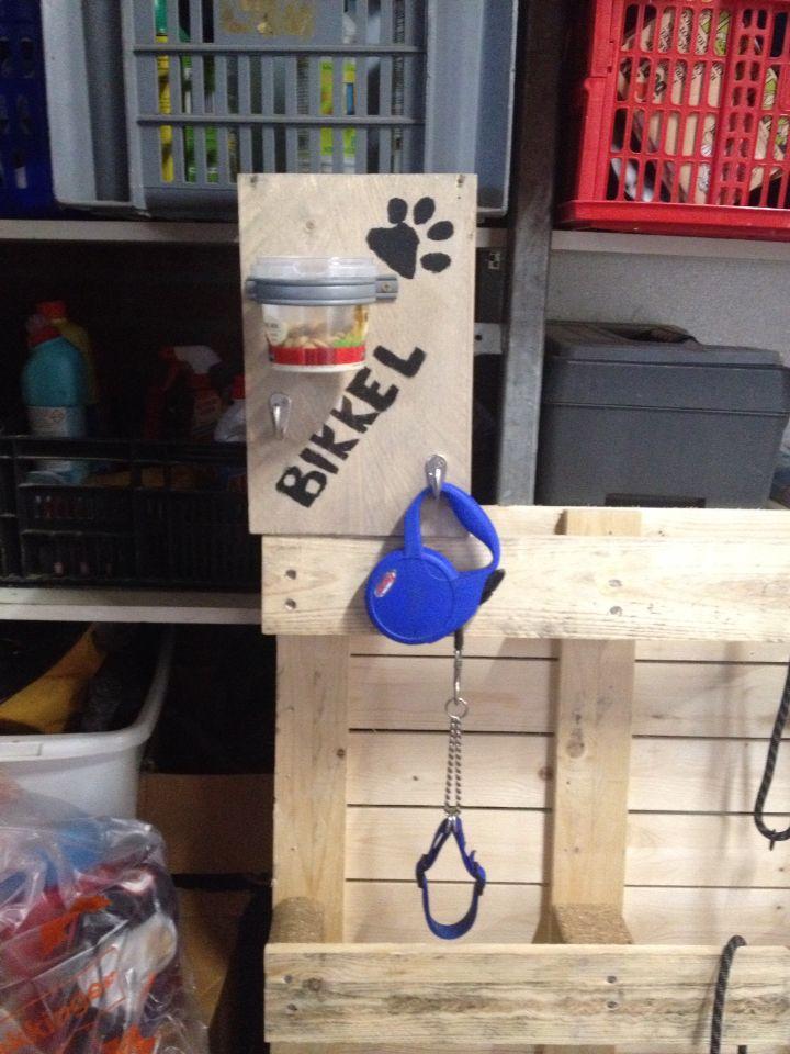 Bord voor mijn riemen van de hond