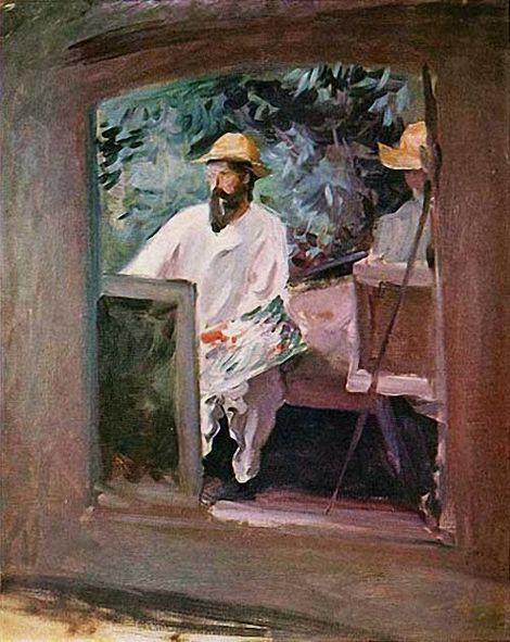 John Singer Sargent, Claude Monet in his Bateau-Atelier, 1887 on ArtStack #john-singer-sargent #art