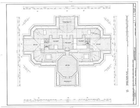 Third Floor Plan Thomas Jefferson Monticello Charlottesville Va Habs Va 2 Char V 1 Sheet 05 Of 32 1024 789