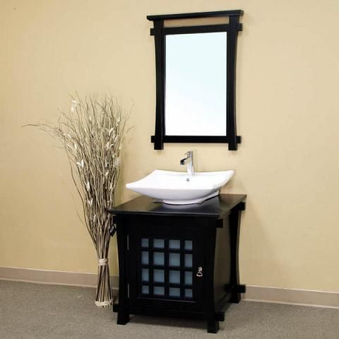 Asian Inspired Bathroom Vanities For A Zen Like Modern Bathroom Single Sink Bathroom Vanity Single Sink Vanity Vessel Sink Bathroom Vanity