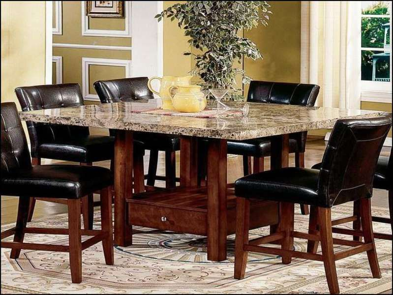 Granite Table Top Dining Sets Set Ruang Makan Dining Room Sets Meja Makan