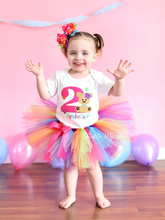 Puppy Paw-ty Birthday Tutu Outfit-Puppy Themed Birthday Tutu Set ...