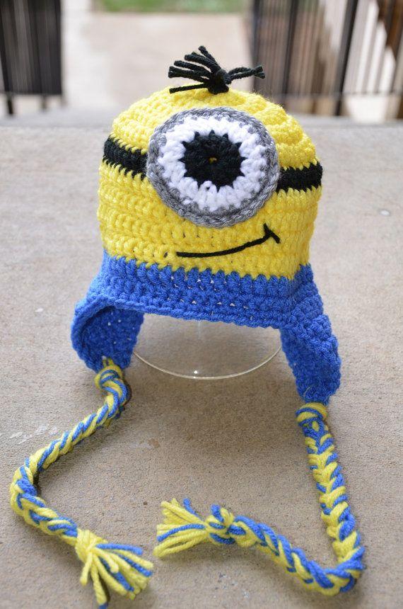 Minion Beanies, Minions, Minion hat, One eye minion, two eyed minion ...