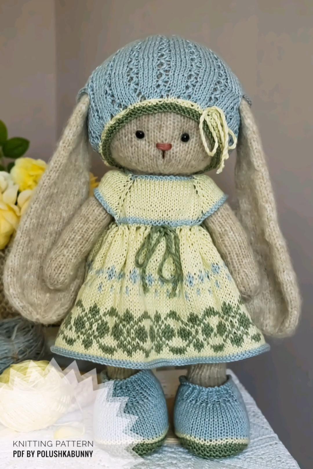 Photo of Strickmuster Hübsches Outfit Stricken zu Ostern von Polushkabunny #easter #bunny #pattern #craft