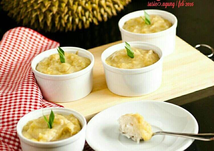 Resep Ketan Duren Oleh Susi Agung Recipe Durian Recipe Food And Drink Food