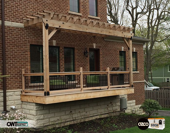 Beautiful Floating Style Deck And Pergola Combo Great Use Of The