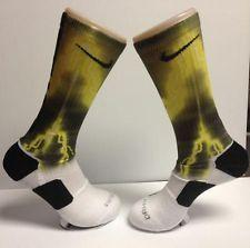 b5f5a917a7b57 Custom Gold Lightning Bolt Galaxy Nike Elite Socks | Socks | Nike ...
