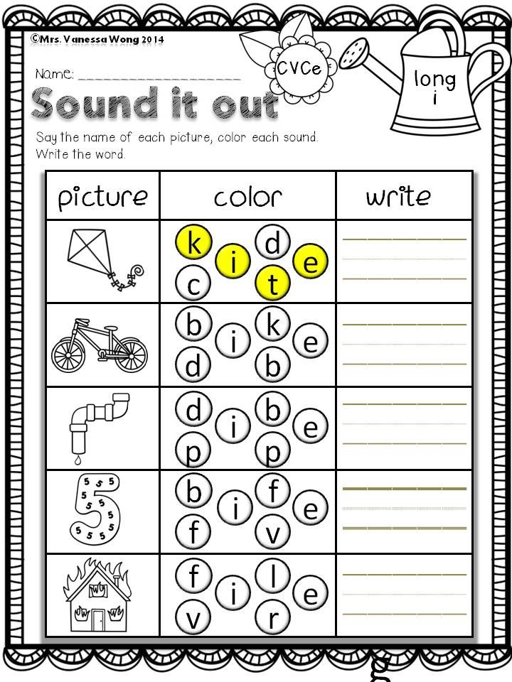 Download free printables at preview. Sound it out- long vowel ...