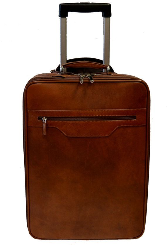 1204279cad2e Leather trolley travel bag weekender overnight leather bag with ...