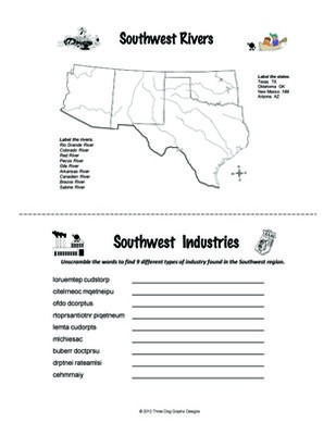 southwest region activity booklet worksheets social studies lessons social studies worksheets. Black Bedroom Furniture Sets. Home Design Ideas