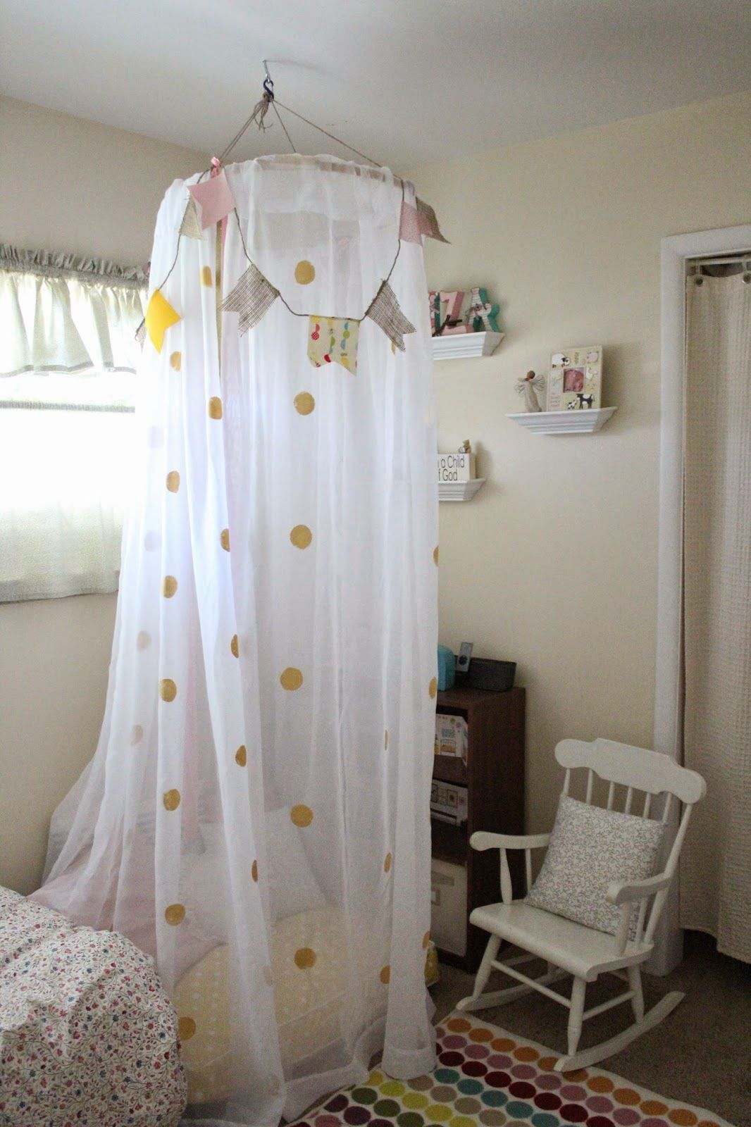 Embroidery hoop and sheer curtains reading tent Mommy Vignettes DIY No-Sew Tent Canopy & Embroidery hoop and sheer curtains reading tent Mommy Vignettes ...