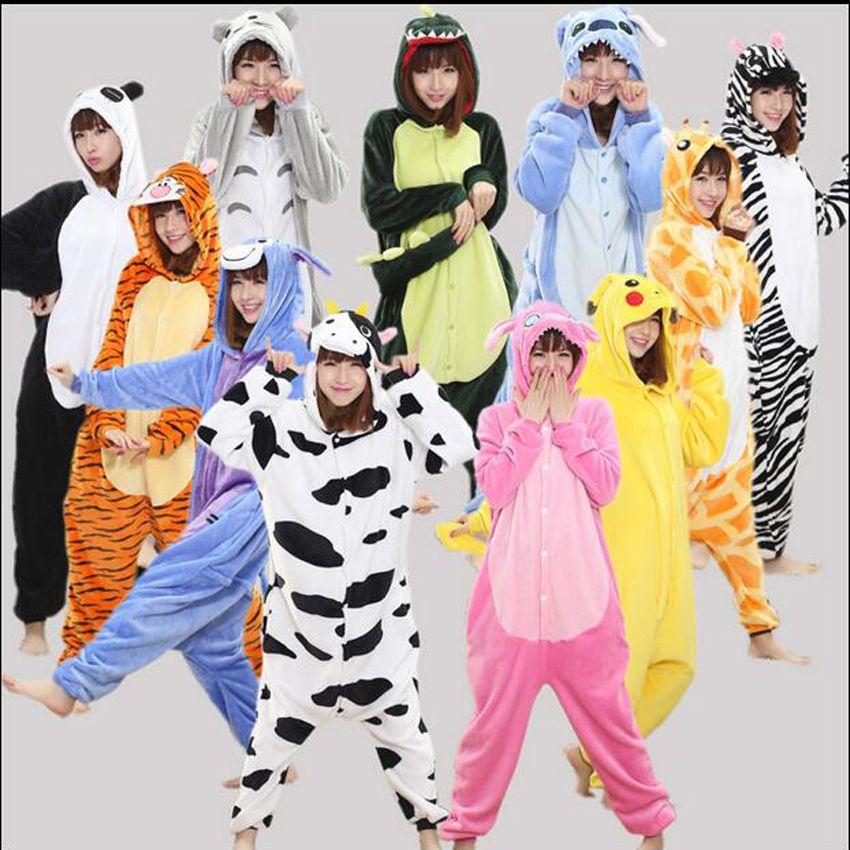 cefdd572c Funny Adult Matching Onesie Pajamas For Women Men Winter Kawaii ...