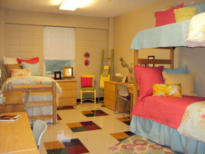 Bright dorm room by Moxii Dorm layout Triple dorm Dorm