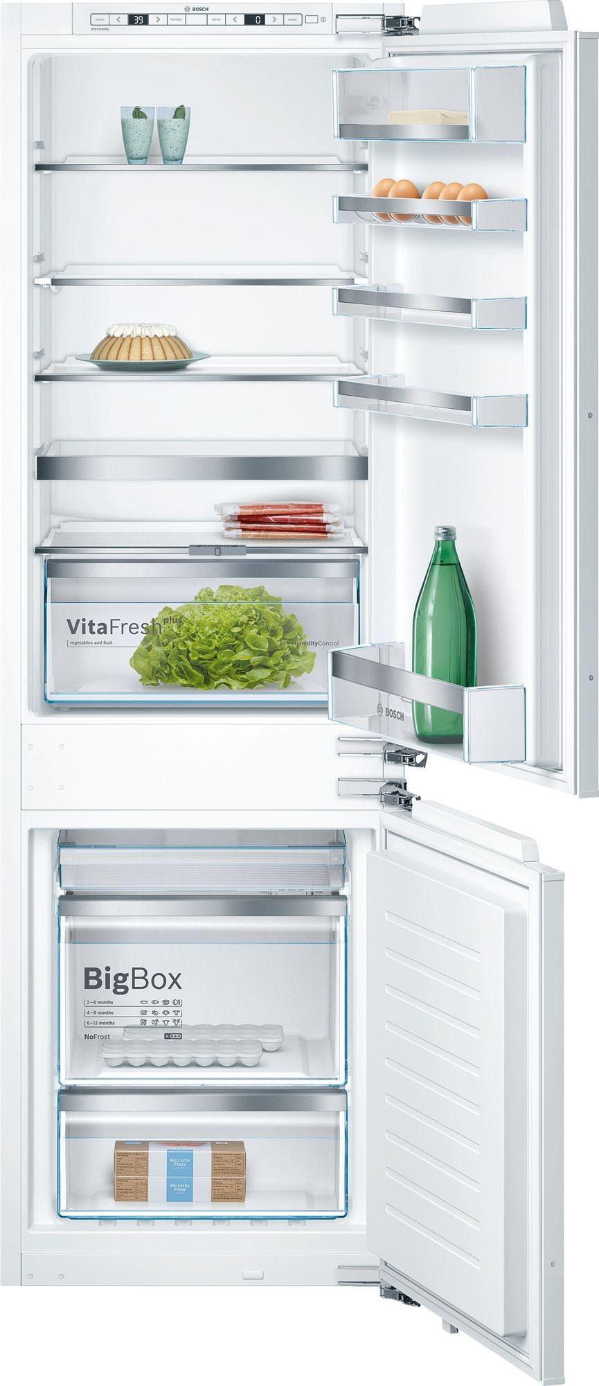 Bosch B09ib81nsp 24 Inch Built In Panel Ready Refrigerator With Wifi Home Connect Bigbox Freezer Drawer Supercooling Superfreezing Vitafresh Pro Drawer Va Bottom Freezer Bottom Freezer Refrigerator Built In Refrigerator