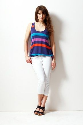 Tanni Stripe Vest - probably not the right shape but love the colours