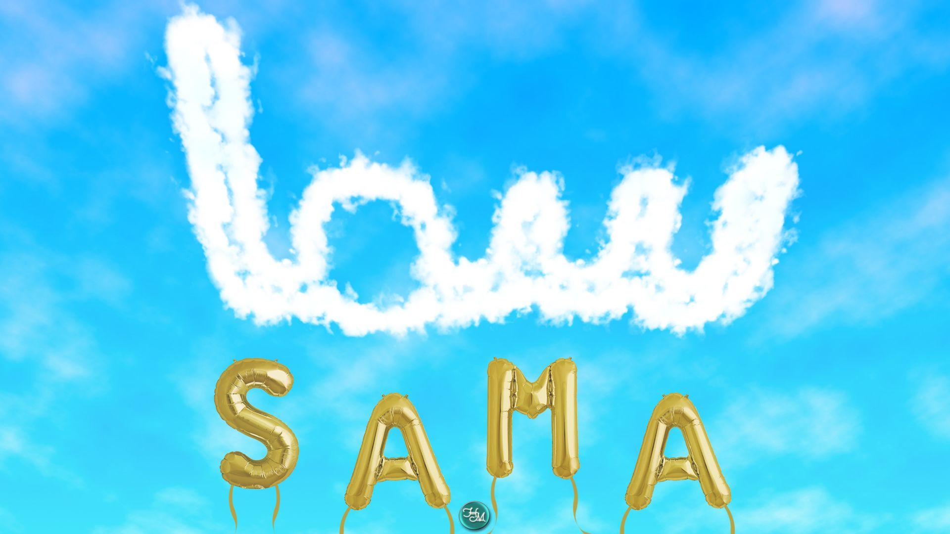 سما اسم علم مؤنث عربي من السمو معناه الصيت البعيد السمعة الطيبة والصيت السمعة سما Sama Neon Signs Neon Signs