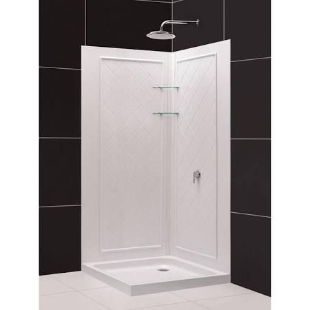 Pin By Liz Brown On Home Decor Corner Shower Kits Shower Wall Kits Neo Angle Shower