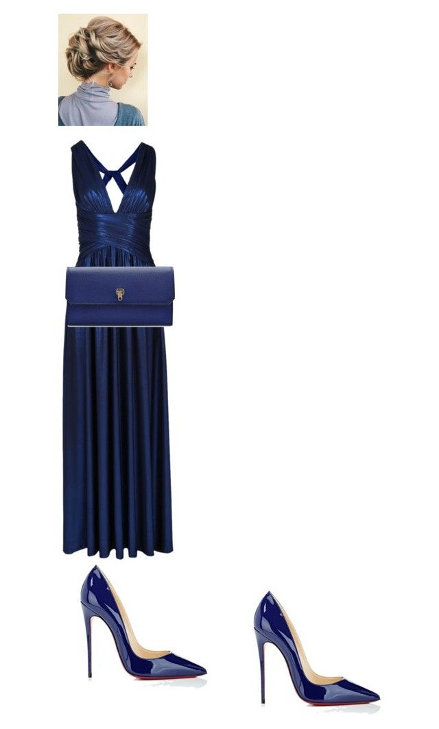 """Blue"" by oliviaw09-1 ❤ liked on Polyvore featuring Christian Louboutin and Valextra"