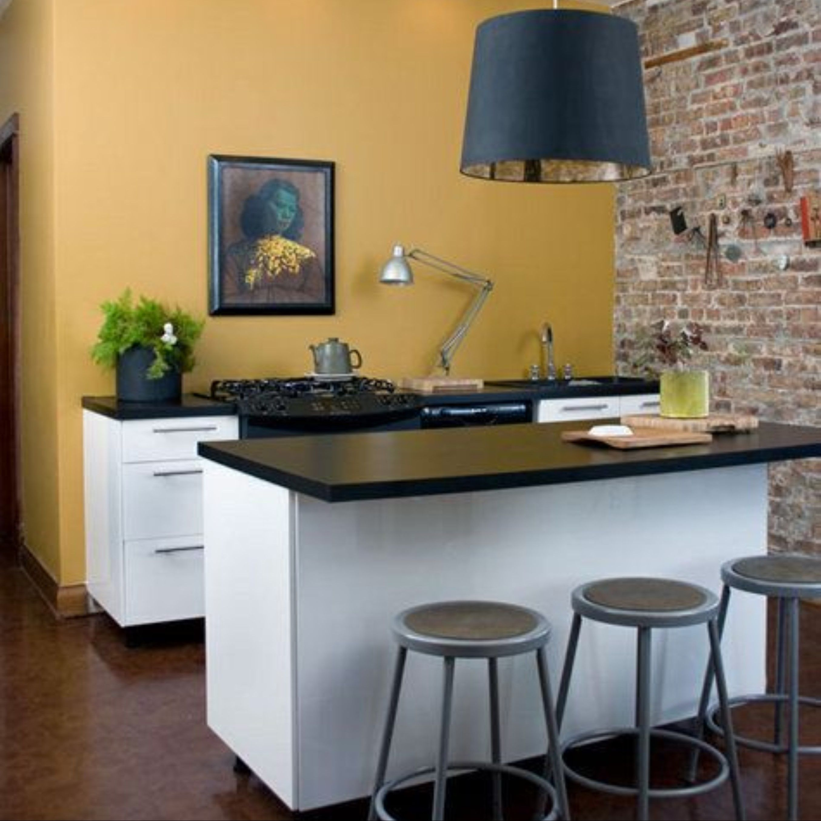 4 Earth Tones To Make Your Kitchen More Grounded Big Chill Paint For Kitchen Walls Yellow Kitchen Walls Kitchen Colors