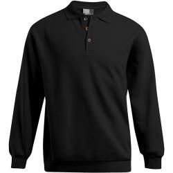 Photo of Polo sweatshirt plus size men, black PromodoroPromodoro