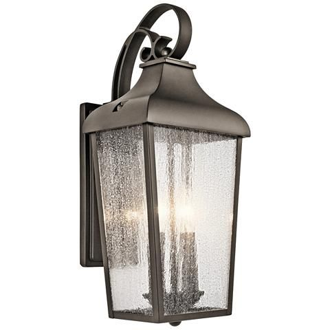 Kichler forestdale 18 1 2h old bronze outdoor wall light style 9y319 outdoor walls bronze finish and curb appeal