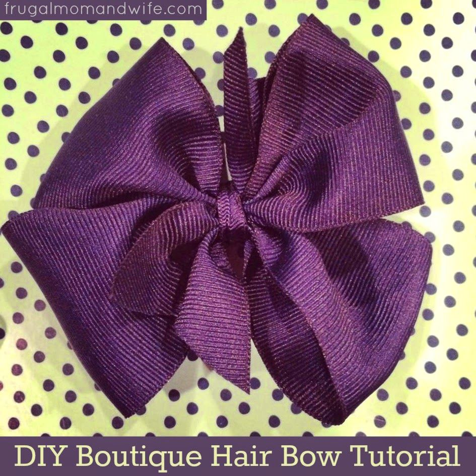 Frugal Mom and Wife: DIY Boutique Hair Bow Tutorial!