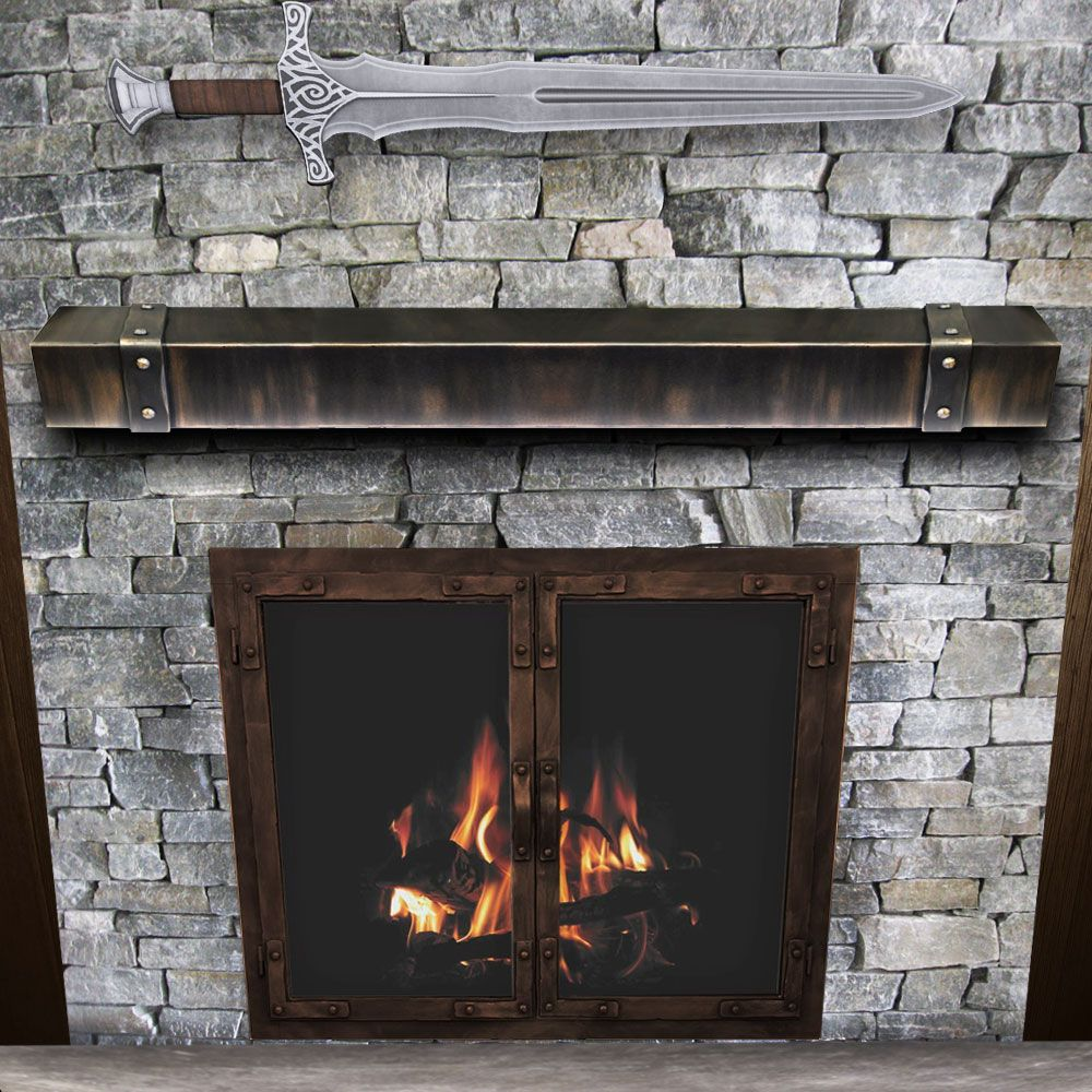Chesapeake Steel Fireplace Mantel Shelf