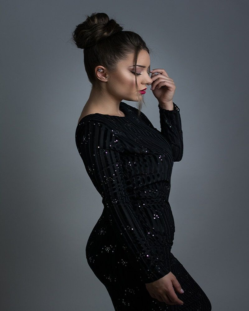 Long Sleeve Black Dress plus Size