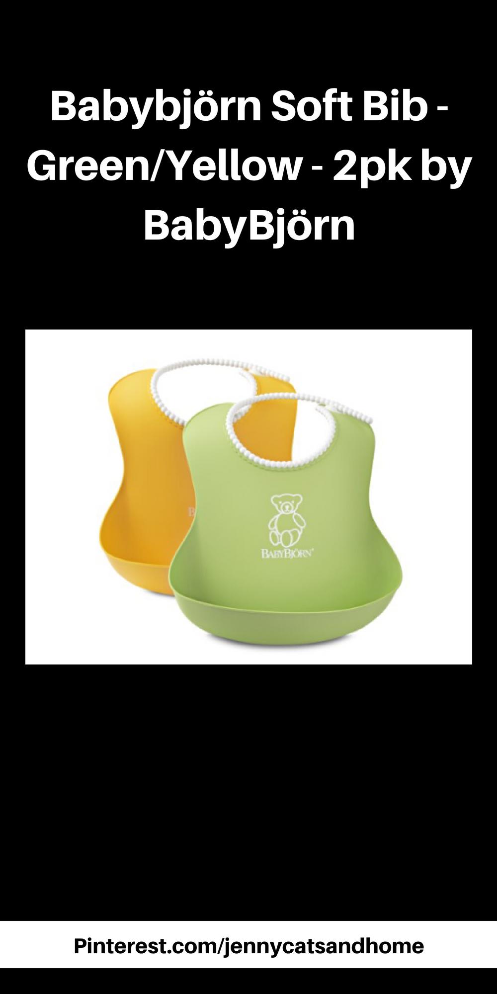 c568ea0f35e Babybjörn Soft Bib - Green Yellow - 2pk by BabyBjörn  afflink. These are  the best bibs ever