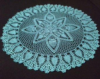 BEAUTIFUL Gossamer Lace Tablecloth//Doily//CROCHET PATTERN INSTRUCTIONS ONLY