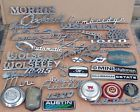 ASSORTED CLASSIC CAR BADGES ETC JOB LOT AUSTIN WOLESELY MORRIS MINI ETC