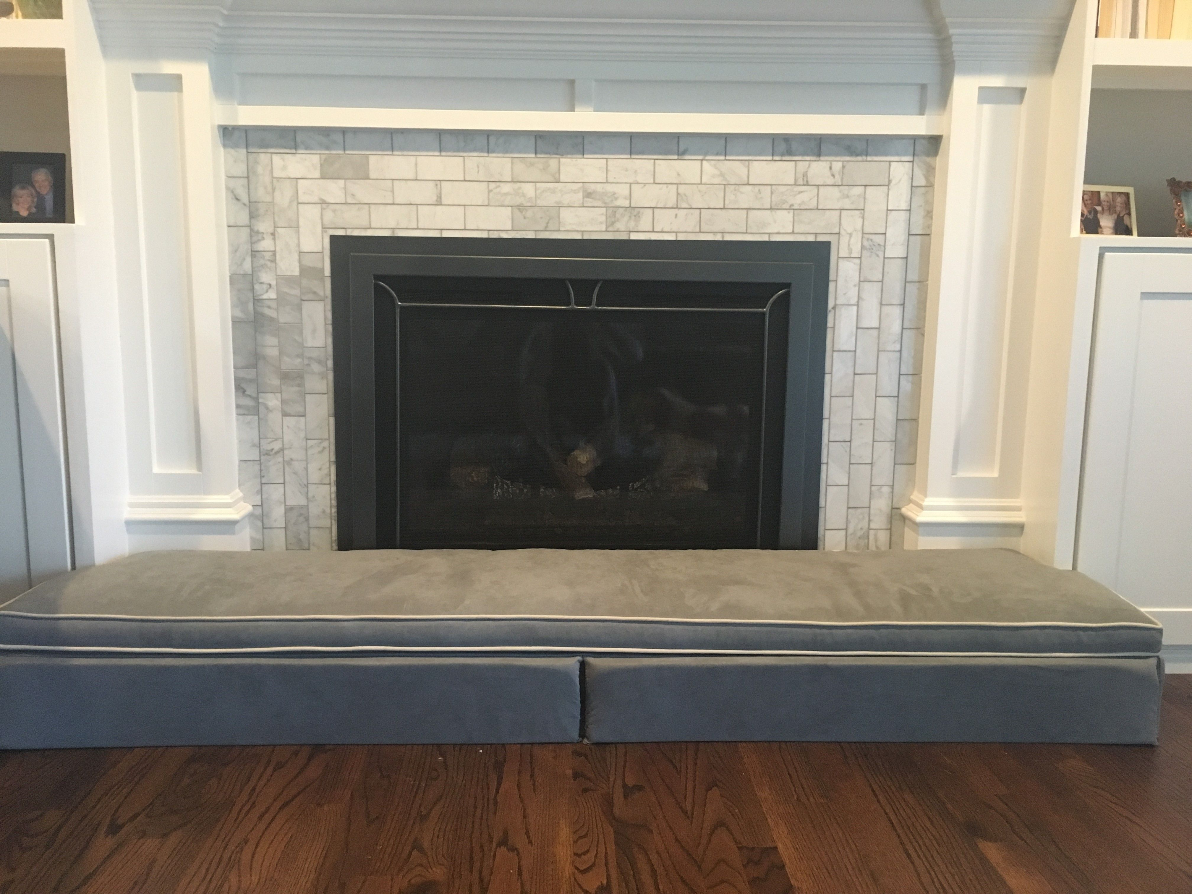 The Custom Hearthsoft By Jamboo Creations Protects Baby From Injuries And Adds Beautiful Seating In Any De Comfortable Seating Fireplace Hearth Baby Protection