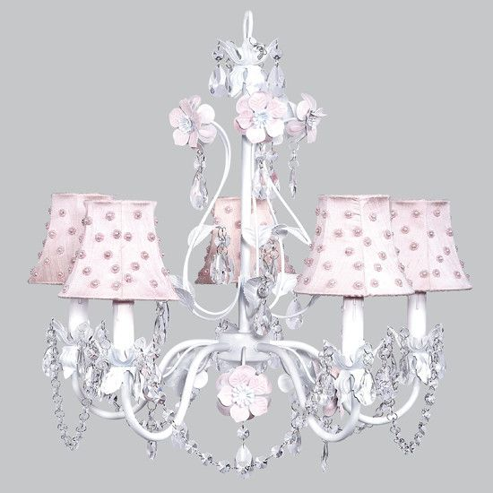 Chandelier Shades, Pink And White Chandelier Lamp Shades