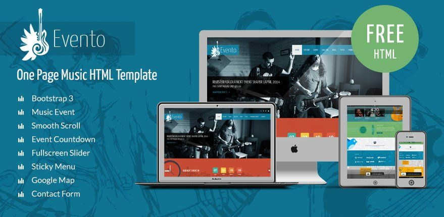Free Music Event Bootstrap Template    Bootstrap-theme-free
