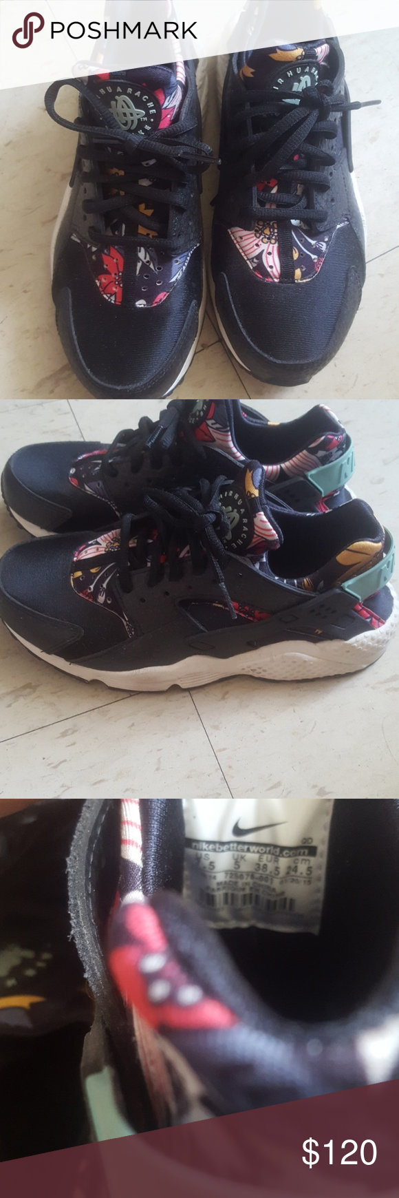 e5d15a36611c Limited Edition Nike Huarache Size 7.5W Runs small or maybe I have wide feet.  Perfect if you re a size 6.5