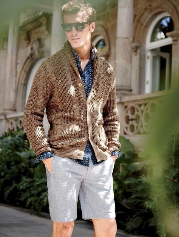6f5e2139fc26 J.Crew men s textured cotton shawl-collar cardigan sweater