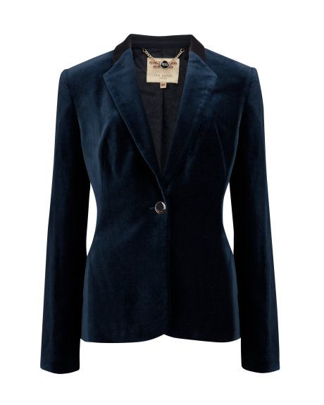 055491c9a0e7 Shop women's British fashion from luxury dresses, jackets, tops, bags and  more. Olivia LOVE LOVE this deep blue velvet blazer ...