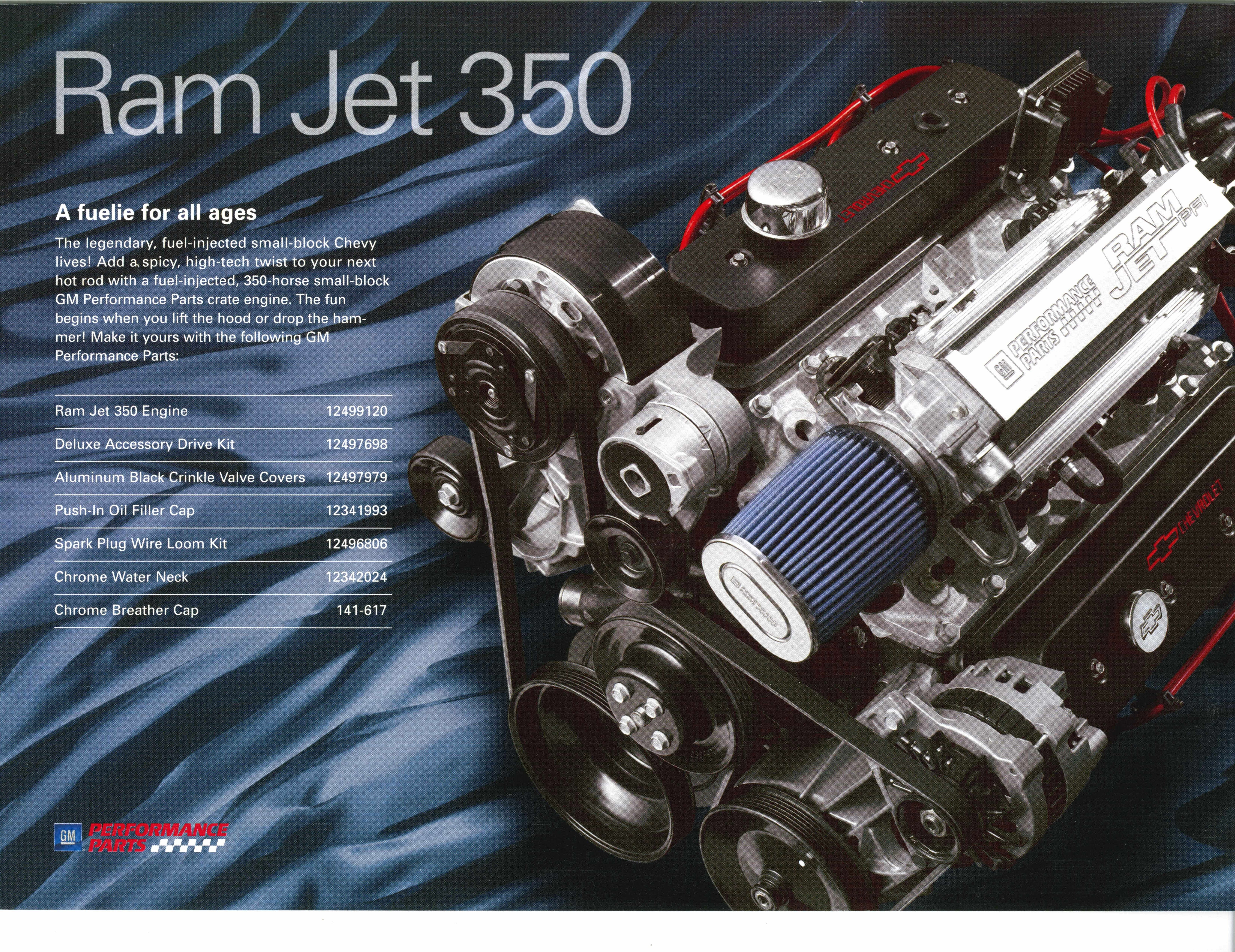 Gm Performance Ram Jet 350 Crate Engines 57 Chevy Trucks Jet Motor