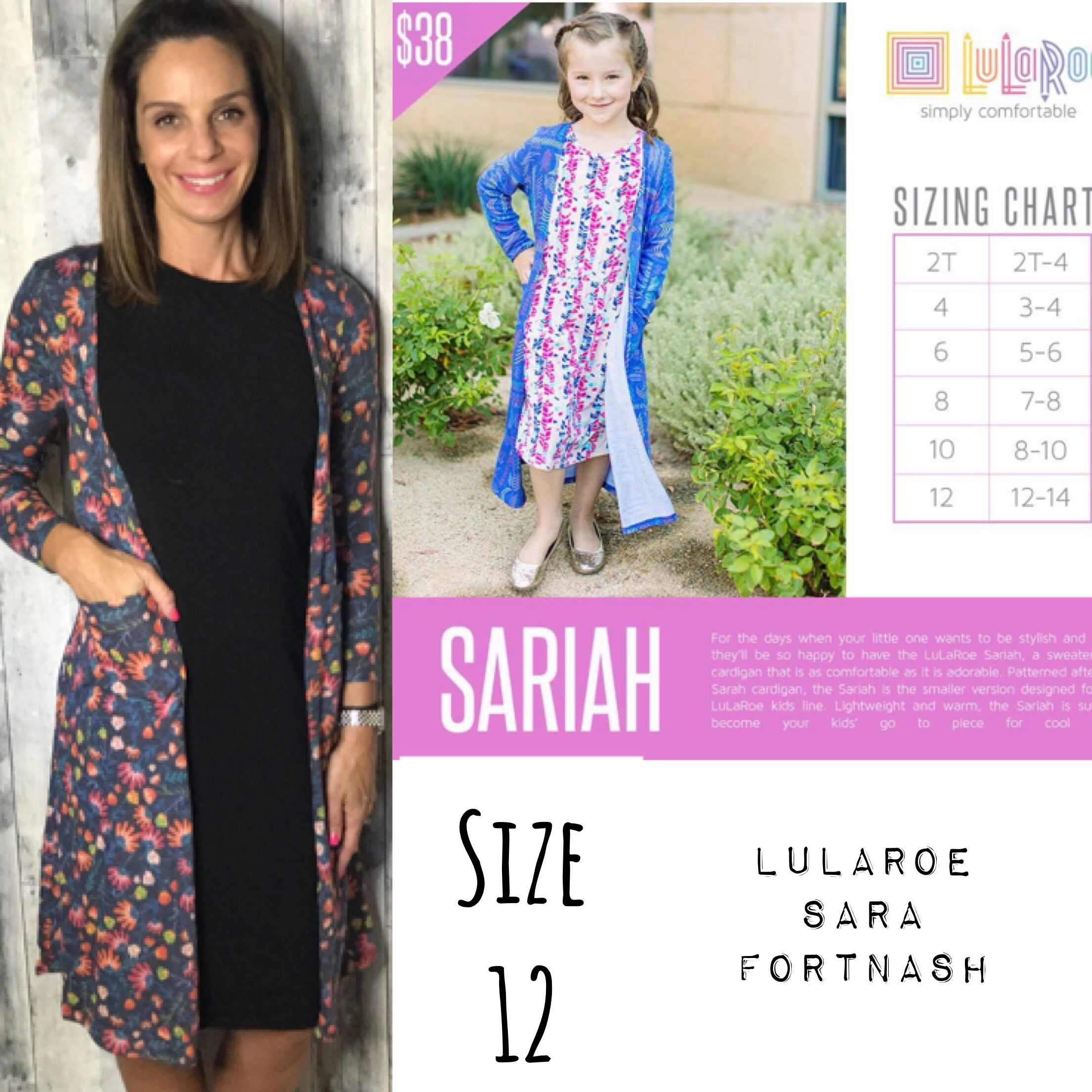 21d8f2b51e7 LuLaRoe Sariah cardigan...size 12 is a good option for super petite girls