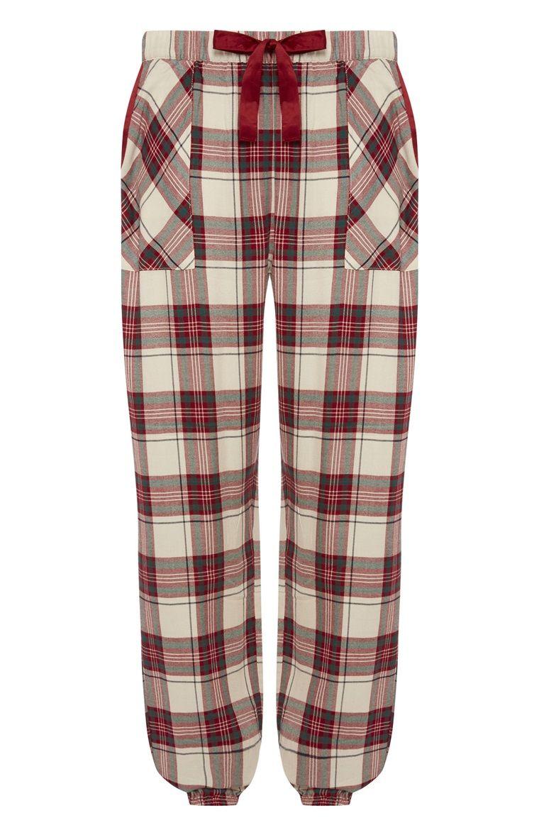 Primark - Red Check Pyjama Bottom  6a94244da