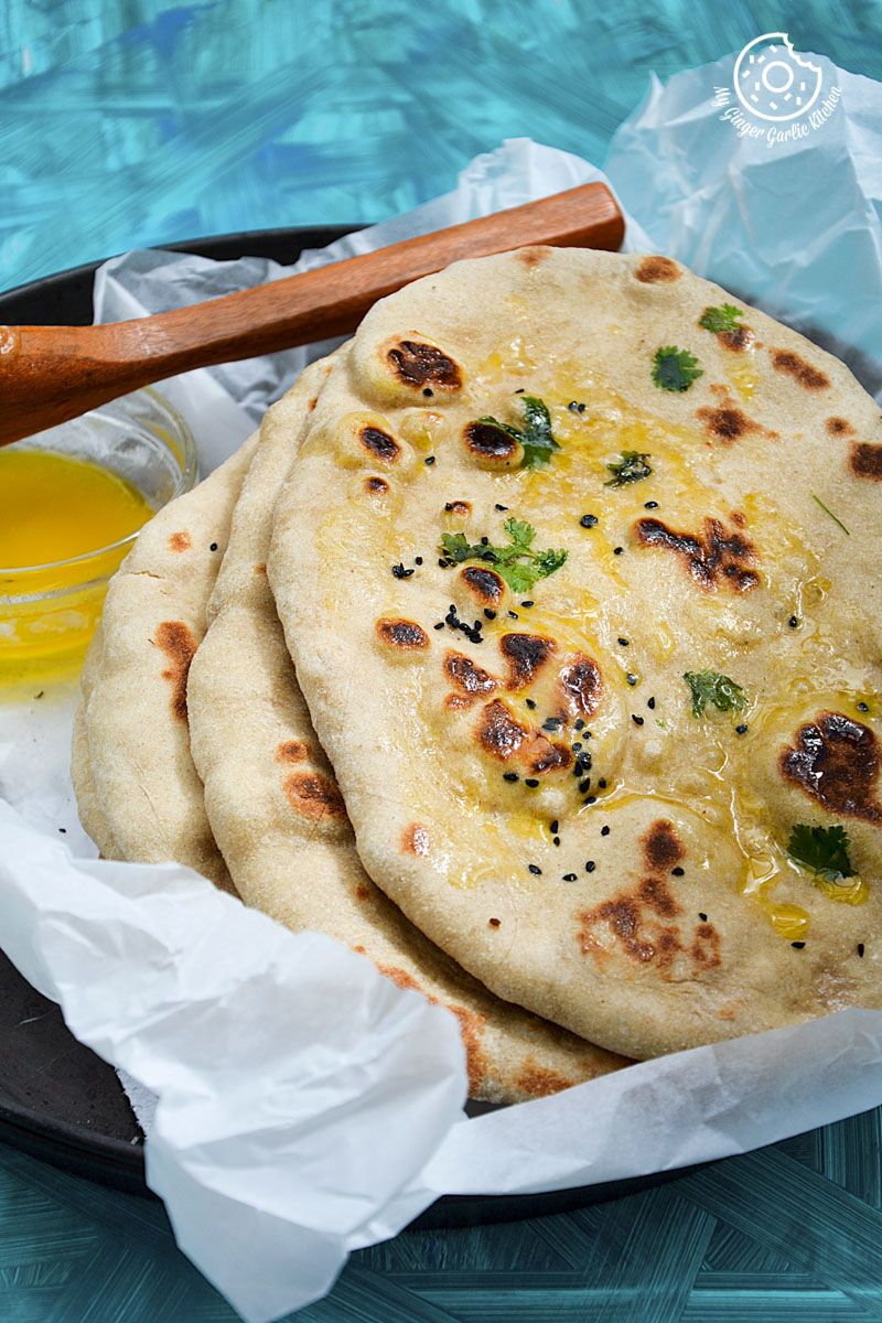 How To Make Easy Instant Naan | Yeast Free Whole Wheat ...