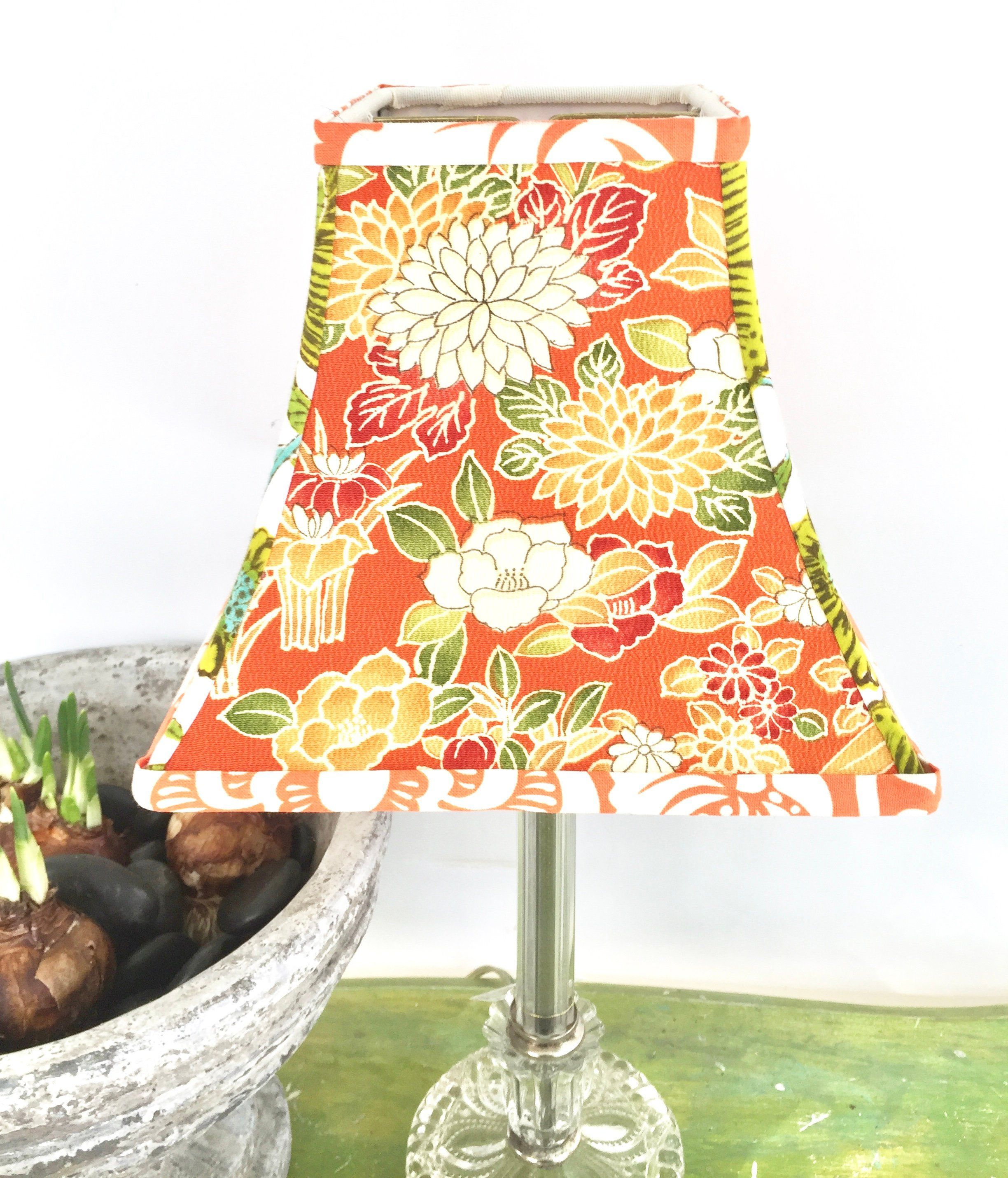 Japanese Funky Lampshade Boho Floral Fabric Lamp Shade Vintage Fun By Lampshadelady On Etsy Lamp Shades Lamp Shade Boho Floral
